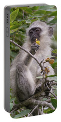 Breakfasting Monkey Portable Battery Charger