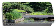 Bridge Over Pond In Japanese Garden Portable Battery Charger