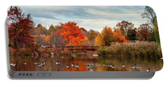 Portable Battery Charger featuring the photograph Bridge Over The Pond by Mark Dodd