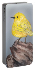 Portable Battery Charger featuring the painting Bright Spot by Maria Langgle