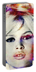 Brigitte Bardot Colorful Watercolor Portable Battery Charger