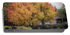 Brilliant Fall Color Tree Yellows Oranges Seasons  Portable Battery Charger