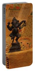 Bronze Ganesha Dancing Portable Battery Charger