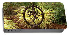Bronze Shiva In Garden Portable Battery Charger