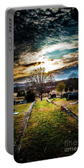 Brooding Sky Over Cemetery Portable Battery Charger