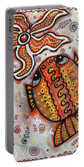 Brother Fish And Sister Starfish In Deep Conversation Portable Battery Charger