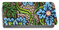 Brown And Blue Floral 2 Portable Battery Charger