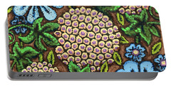 Brown And Blue Floral 3 Portable Battery Charger