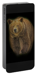 Brown Bear In Darkness Portable Battery Charger