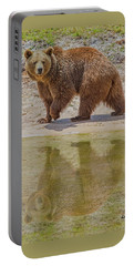 Brown Bear Reflection Portable Battery Charger