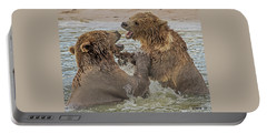 Brown Bears Fighting Portable Battery Charger