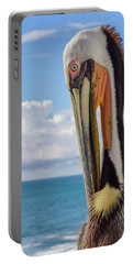 Brown Pelican Portrait Portable Battery Charger