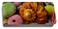 Brown Sea Snail Shell And Urchins Portable Battery Charger