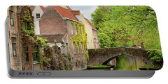 Bruges Footbridge Over Canal Portable Battery Charger