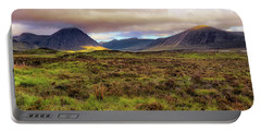 Buachaille Etive Mor From Rannoch Moor - Scotland - Landscape Portable Battery Charger