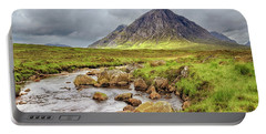 Moody Buachaille Etive Mor - Scotland - Stormy Portable Battery Charger