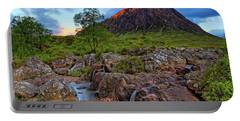 Buachaille Etive Mor With Etive Mor Falls - Scotland - Sunrise Landscape Portable Battery Charger