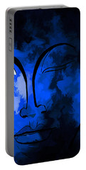 Buddha In Blue Portable Battery Charger