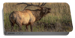 Portable Battery Charger featuring the photograph Bugling Bull Elk 7777 by Donald Brown