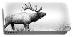 Bull Elk In Rut Portable Battery Charger