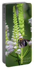 Bumblebee On Obedient Flower Portable Battery Charger