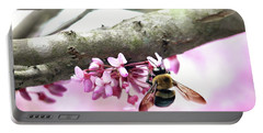 Bumblebee On Redbud Flower Portable Battery Charger