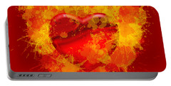 Burning Heart Portable Battery Charger