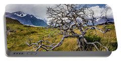 Burnt Tree, Torres Del Paine, Chile Portable Battery Charger