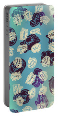 Bursts Of Cartoon Communication Portable Battery Charger