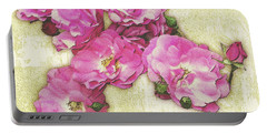 Bush Roses Painted On Sandstone Portable Battery Charger