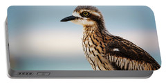 Bush Stone-curlew Resting On The Beach. Portable Battery Charger