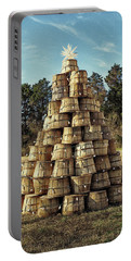 Portable Battery Charger featuring the photograph Bushel Basket Christmas Tree by Bill Swartwout Fine Art Photography