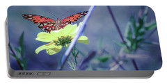 Portable Battery Charger featuring the photograph Butterfly-01 by Karen Rispin