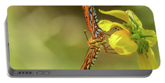 Portable Battery Charger featuring the photograph Butterfly-02 by Karen Rispin