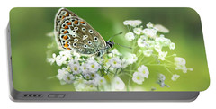 Butterfly On Babybreath Portable Battery Charger