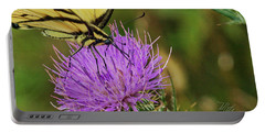 Butterfly On Bull Thistle Portable Battery Charger