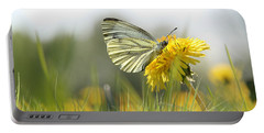 Butterfly On Dandelion Portable Battery Charger