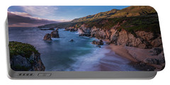 California Big Sur Evening Coastal Tranquility Portable Battery Charger