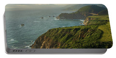 California Coast Highway 1 Golden Light Portable Battery Charger
