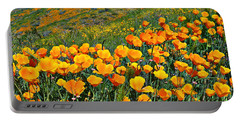 California Golden Poppies And Goldfields Portable Battery Charger