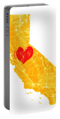 Portable Battery Charger featuring the digital art California Love by Carlin Blahnik CarlinArtWatercolor