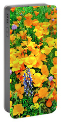 California Poppies And Betham Lupines Southern California Portable Battery Charger