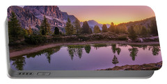 Calm Morning On Lago Di Limides Portable Battery Charger