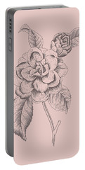 Camellia Blush Pink Flower Portable Battery Charger