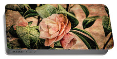 Camellia Grunge Portable Battery Charger