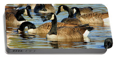 Portable Battery Charger featuring the photograph Canada Geese by Debbie Stahre