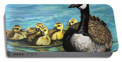 Canadian Goise And Goslings Portable Battery Charger