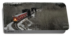 Portable Battery Charger featuring the photograph Canadian Pacific Holiday Train 2018 I by Brad Allen Fine Art