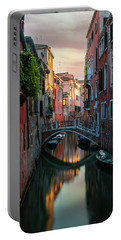 Canals Of Venice At Early Morning Portable Battery Charger