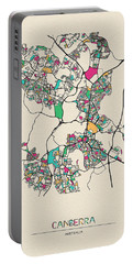 Canberra, Australia City Map Portable Battery Charger